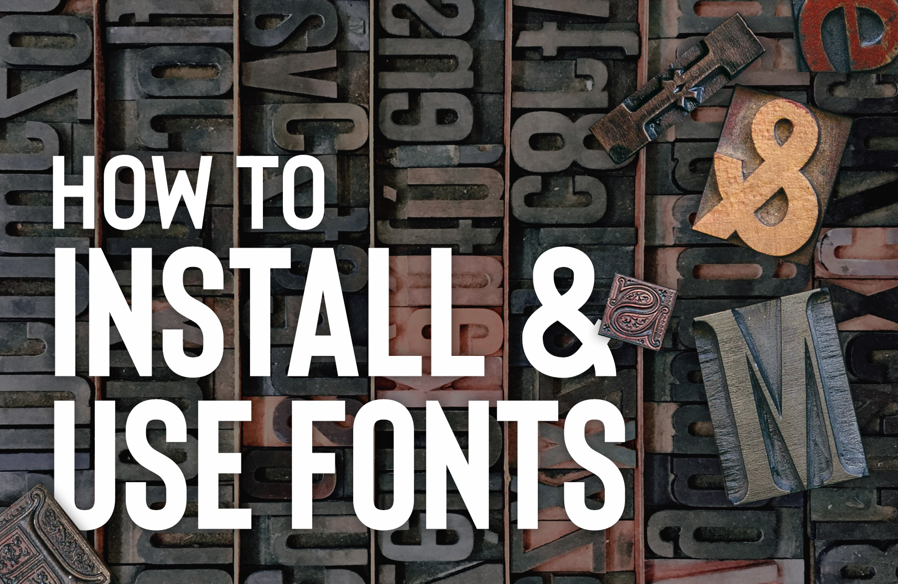 How to Install Font in PC and Mac