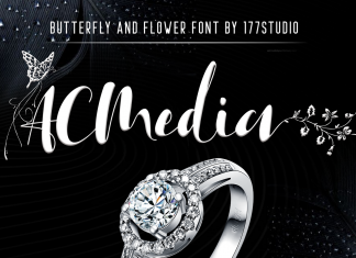 Acmedia – Butterflies and Flowers Font