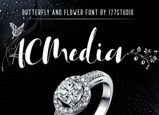 Acmedia – Butterflies and Flowers Font