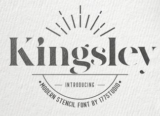 Kingsley – Modern Stencil Font