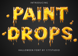 Paint Drops – Halloween Font