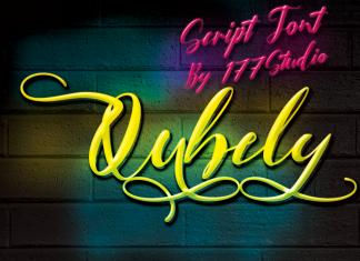 Qubely Script Font