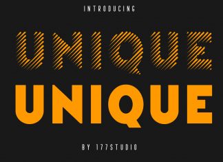 Unique – Stripes Font