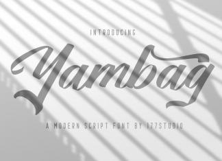 Yambag – Modern Script Font