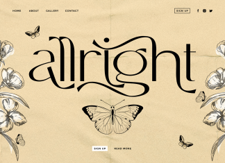 Allright – Fashionable Font