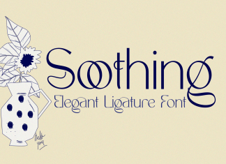Soothing – Unique Ligature Font