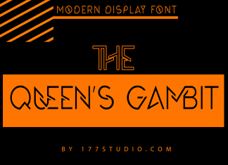 The Queen's Gambit Font