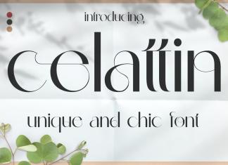 Celattin  – Unique Ligature Font