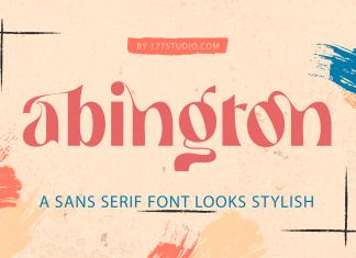 Abington – Stylish Sans Serif Font