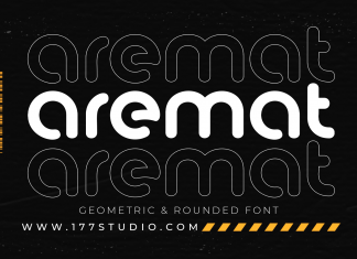 aremat – Geometric & Rounded Font