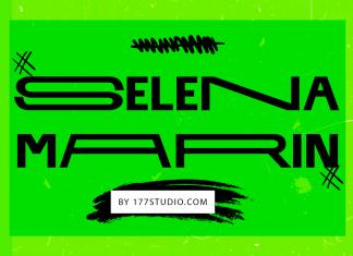SELENA MARIN – Variable Width Font
