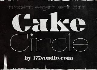 Cake Circle Font