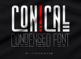 CONICAL CONDENSED FONT