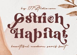 Ostrich Habitat Font