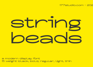 String Beads Font