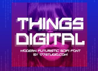 Things Digital Font